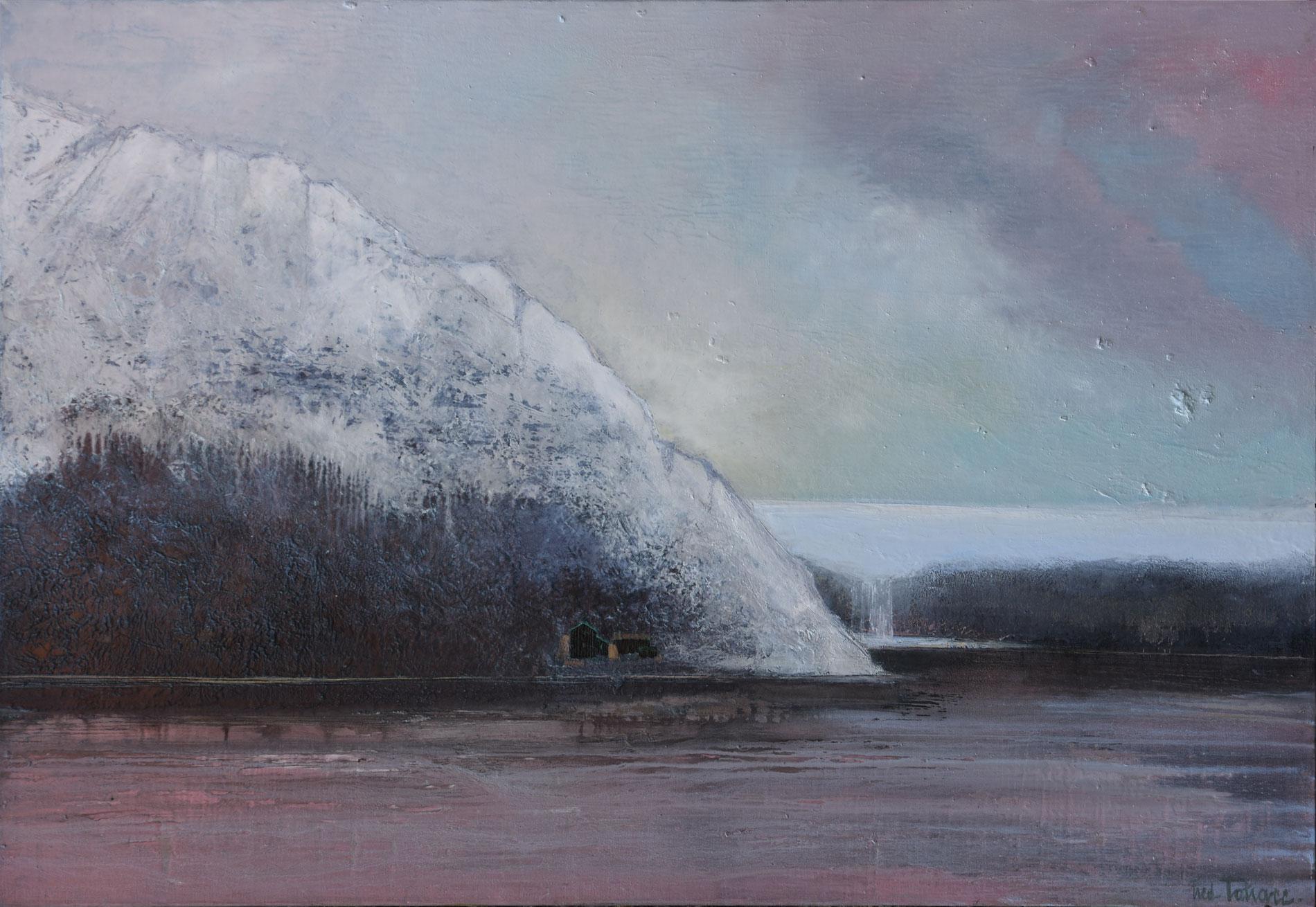 """""""Islande"""" - Huile sur Toile - 60P ou 130x89cm du Peintre Frédéric Latrace"""