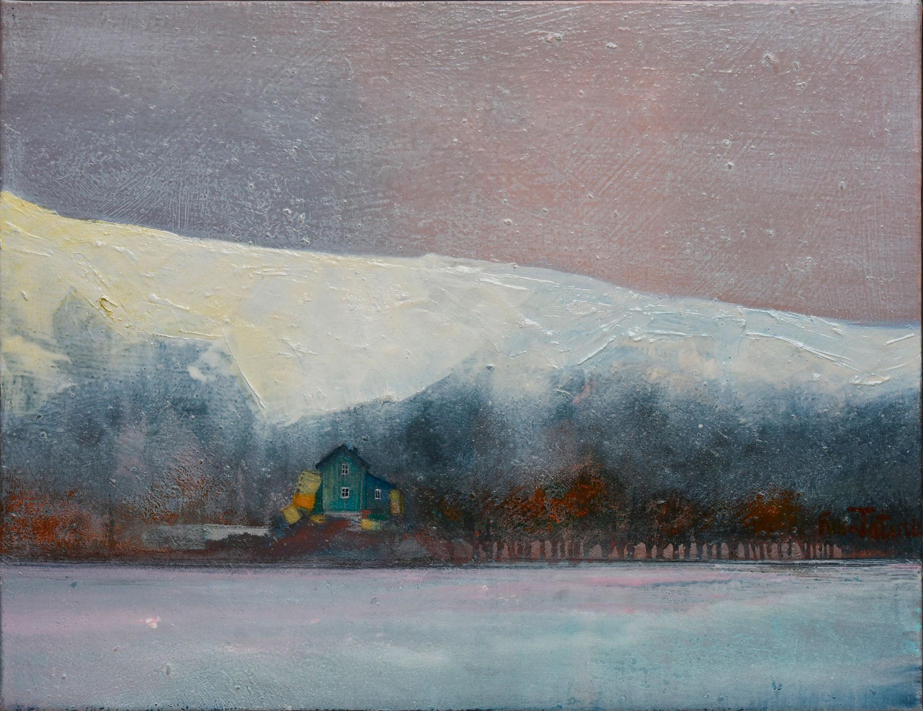 """""""Islande du sud"""" - Huile sur toile 15P - 65x50cm - Peintre Fred Latrace"""