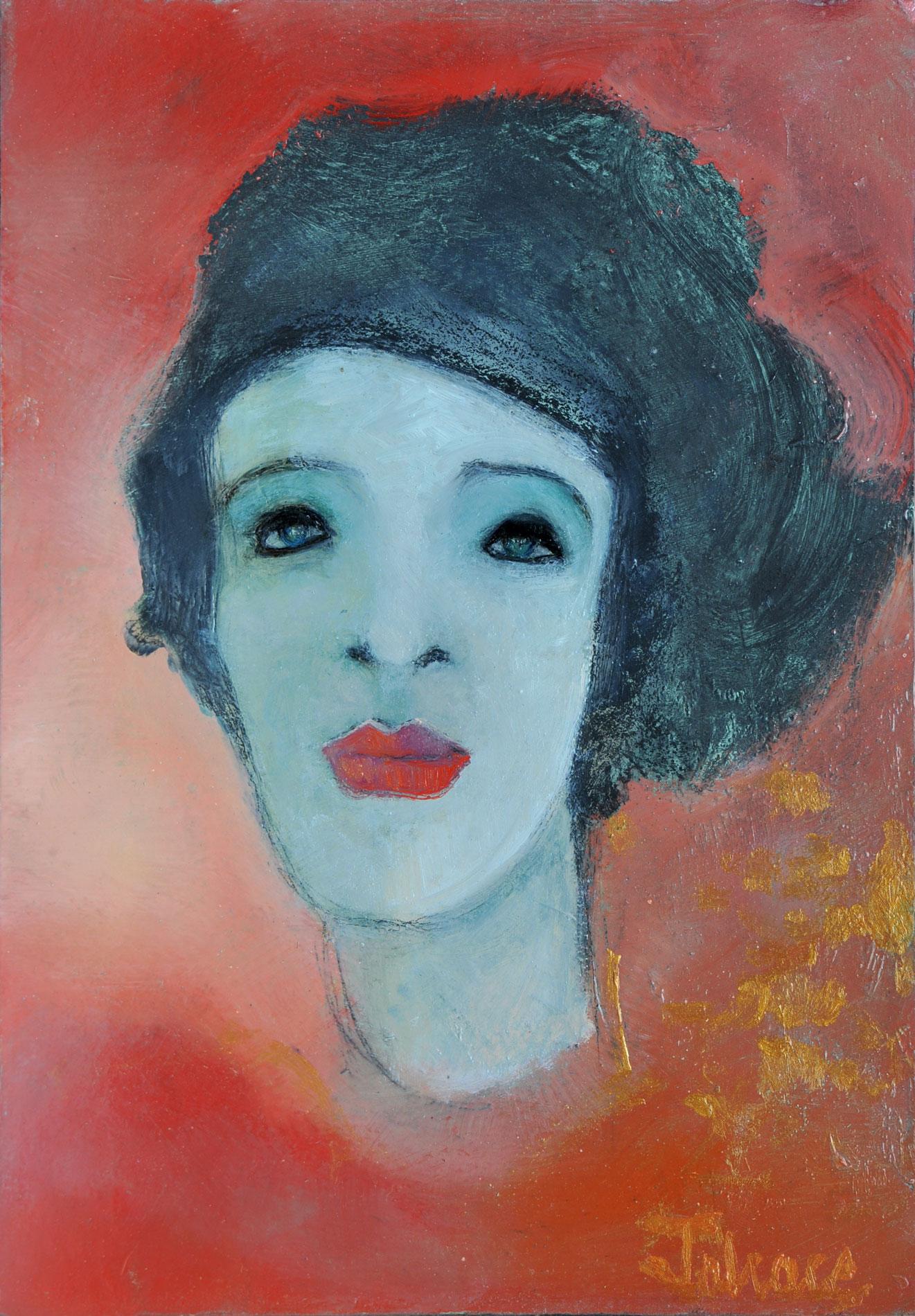 JUDITH - Huile sur Toile de 41x27cm - Peintre Frédéric Latrace