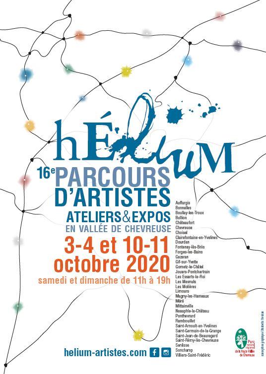 16e PARCOURS D'ARTISTES Hélium ateliers & expos 3-4 et 10-11 octobre 2020 en vallée de chevreuse