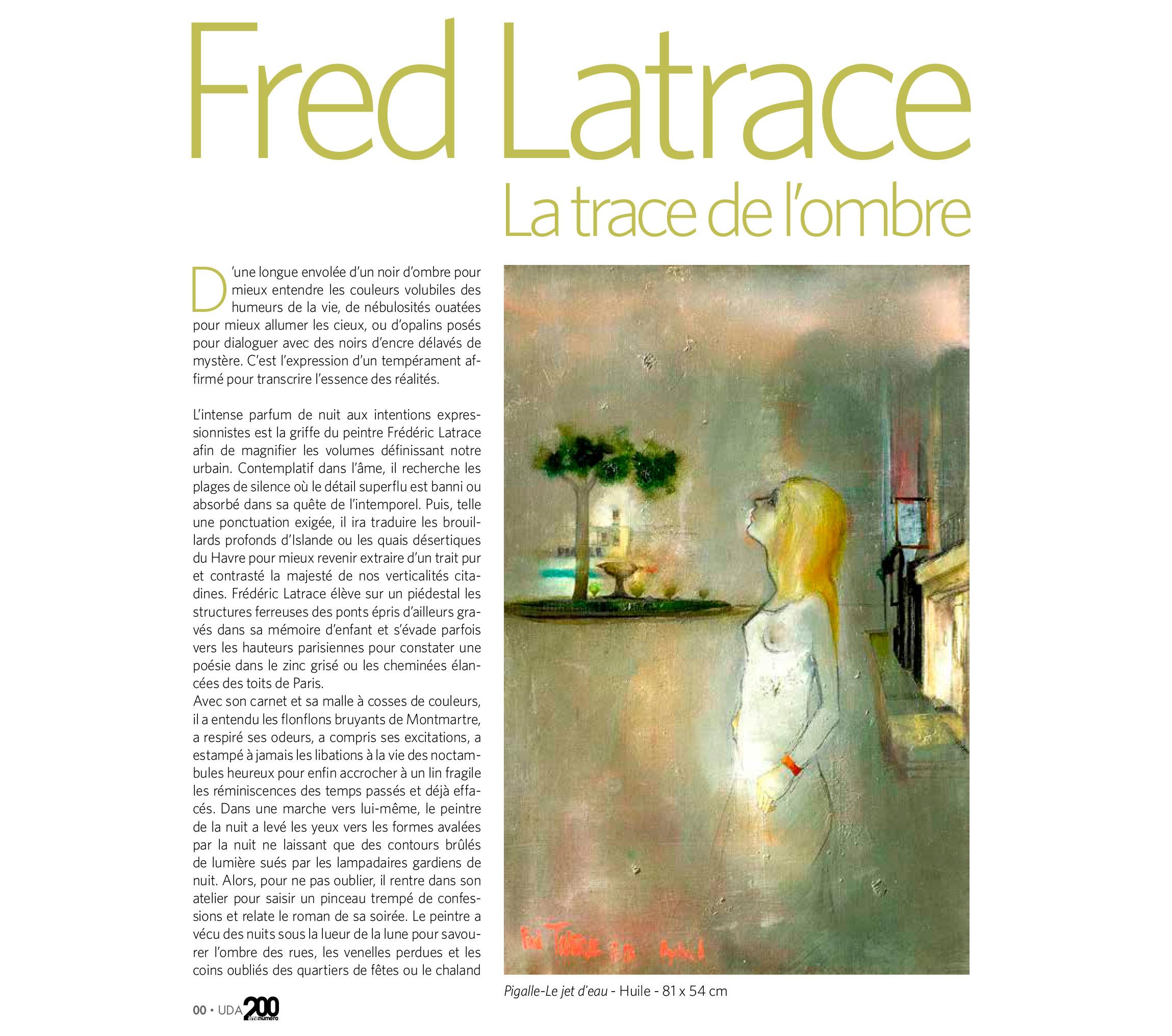 Article d'Univers des Arts - Octobre 2020 sur le peintre français Frédéric Latrace