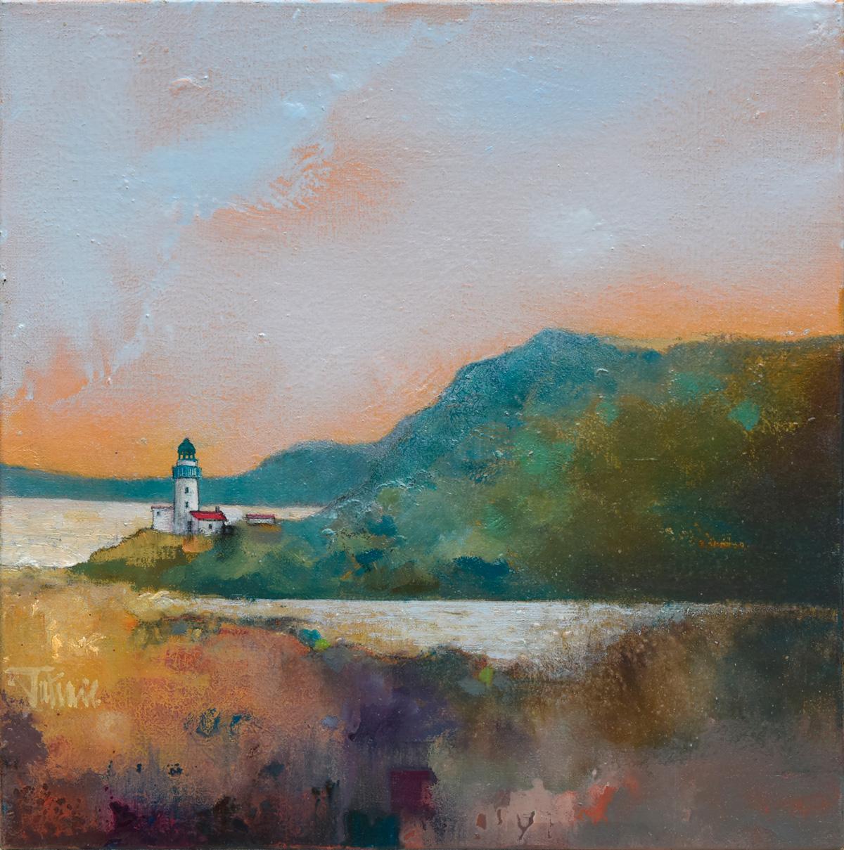 BOWMORE - Huile sur Toile de 40x40cm - Peintre Frédéric Latrace
