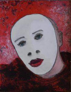 Le Mime - Acrylique sur papier marouflé - 22x20