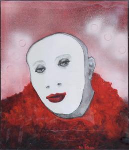 Le Mime - Acrylique sur papier marouflé - 120x120